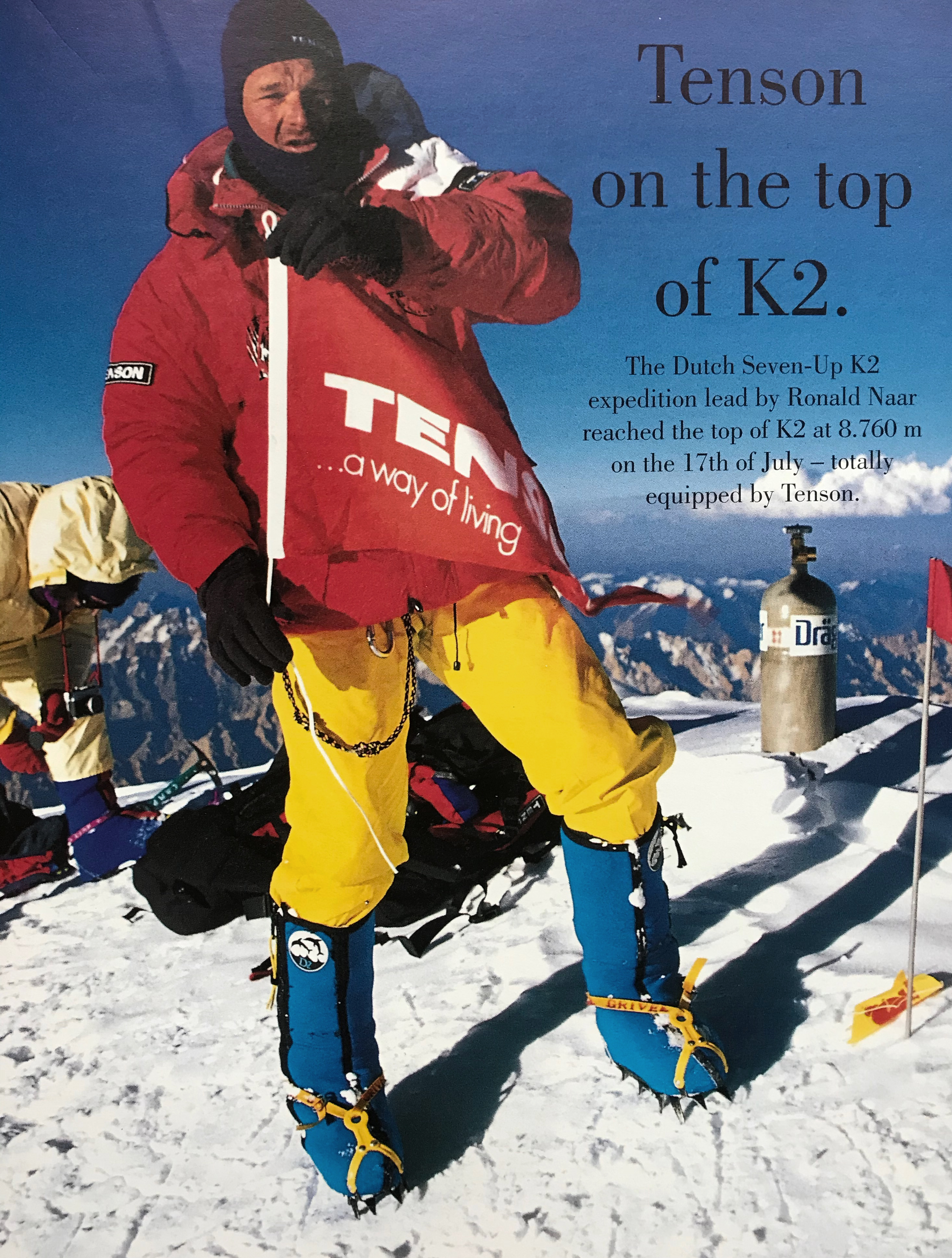 Tenson on the top of K2